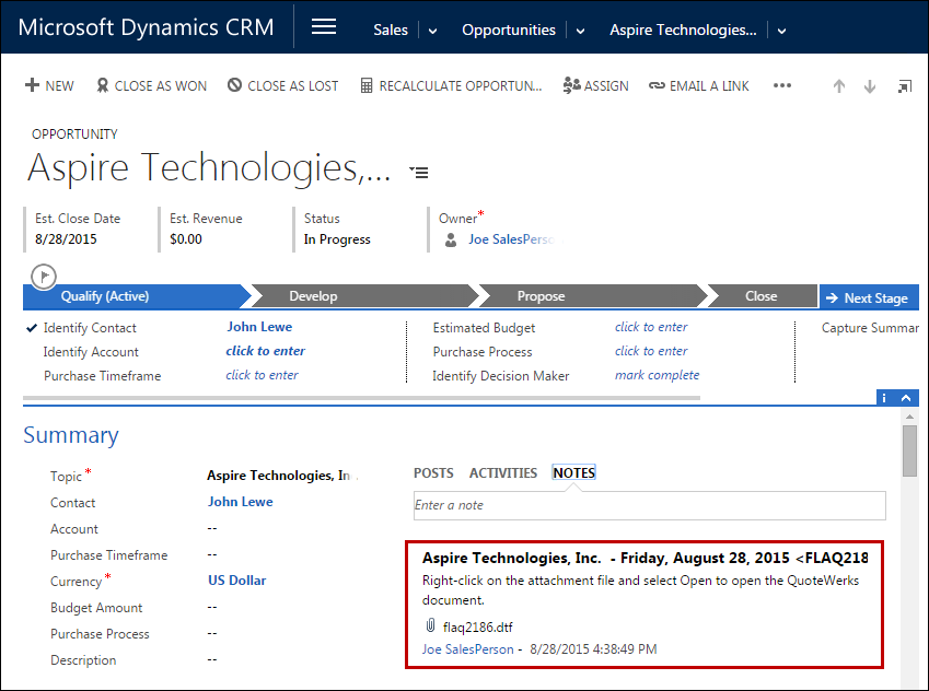 Crm Quote | Quotewerks Microsoft Dynamics Crm Integration Quotes Proposals