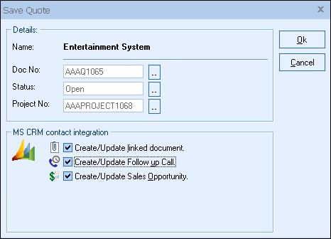 QuoteWerks Microsoft Dynamics CRM Integration Quotes Proposals Impressive Quote Integration