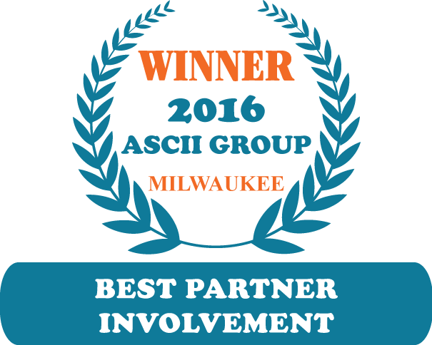 QuoteWerks was honored to be awarded Best Partner Involvement at ASCII Milwaukee 2016