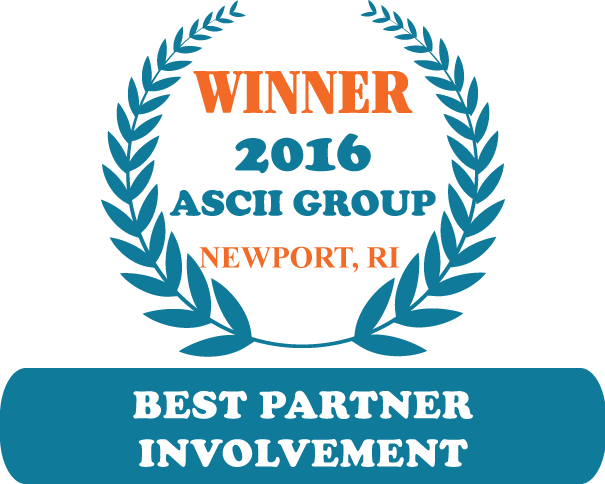 QuoteWerks was honored to be awarded Best Partner Involvement at ASCII Newport 2016