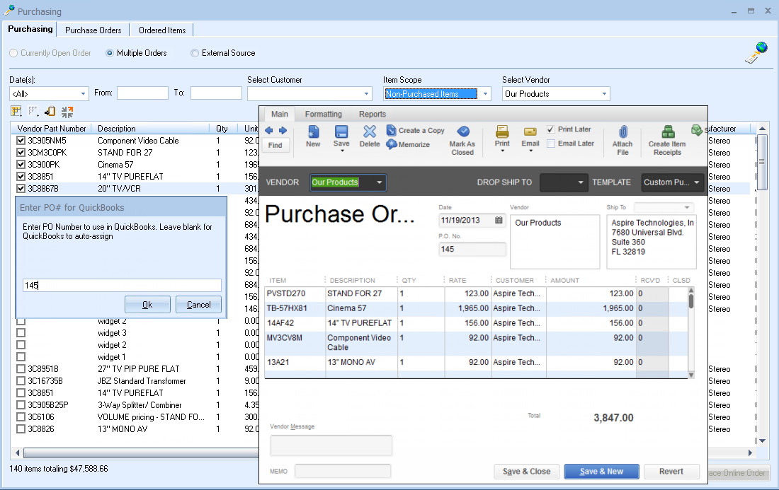 Quickbooks in creating quotes quotesgram for Quickbooks sales order template