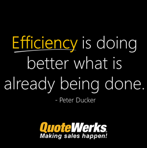 efficiency is doing better than what is already being done