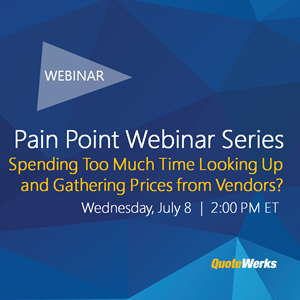 Pain Point Webinar Series: Spending too much time sourcing items from vendors?