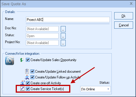 QuoteWerks Help – Service Ticket Template